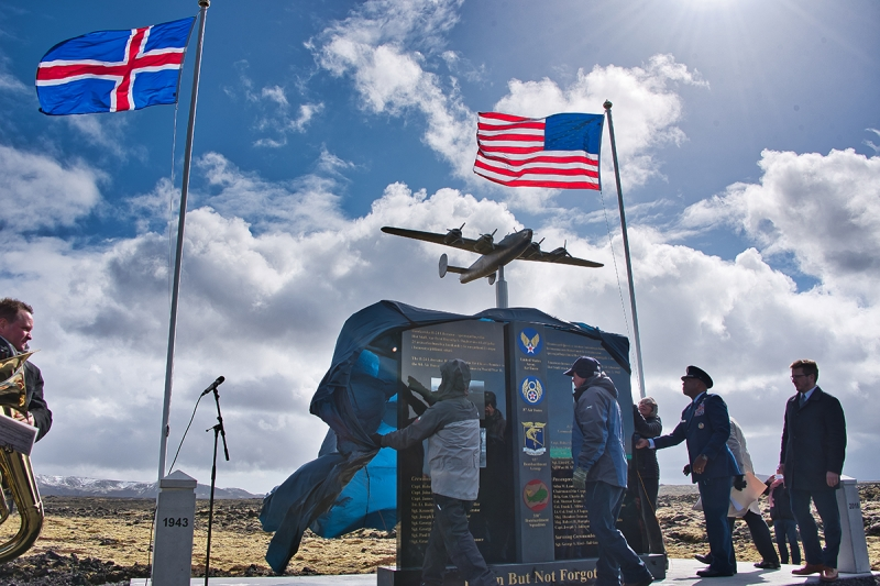 Monument dedicated to honoring those on the B-24 when it crashed