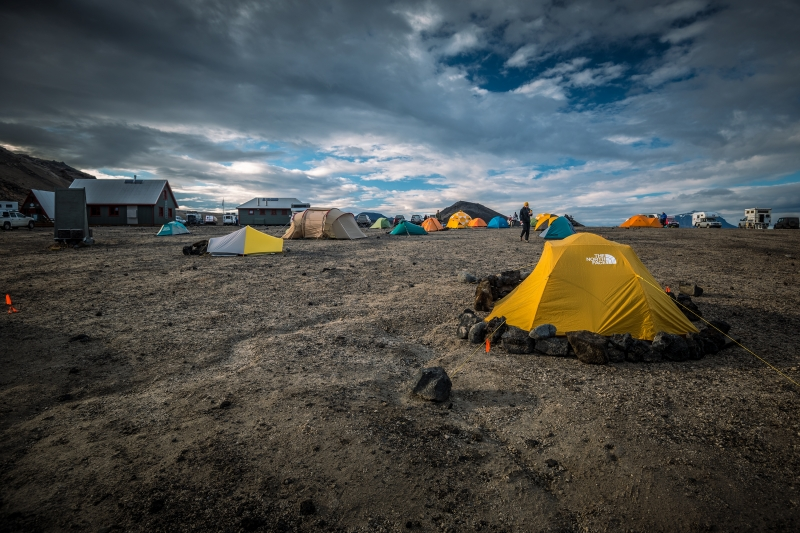 Camping and hiking in Iceland
