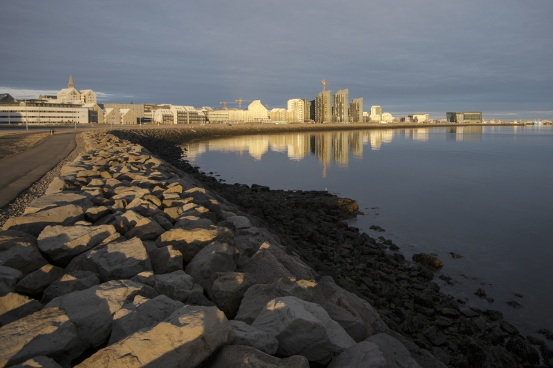 The Sculpture and Shore Walk is a popular walking path in Reykjavík