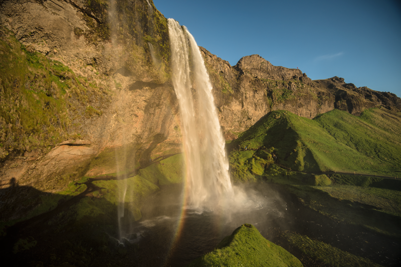 A visit to Seljalandsfoss is most rewarding during summer