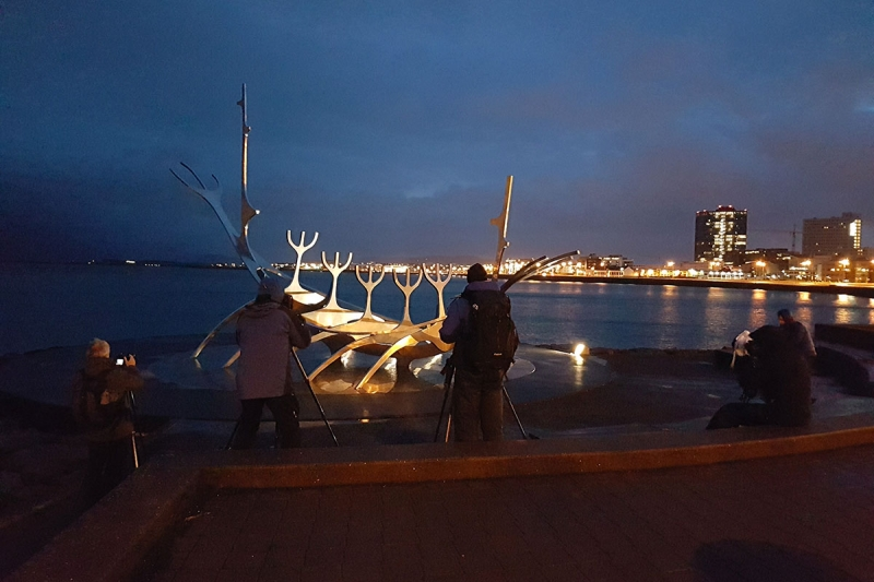 The sculpture Sun Voyager is now one of Reykjavik's best-known landmarks