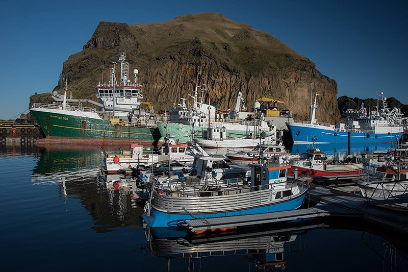 Vestmannaeyjar is a cluster of islands south of Iceland.