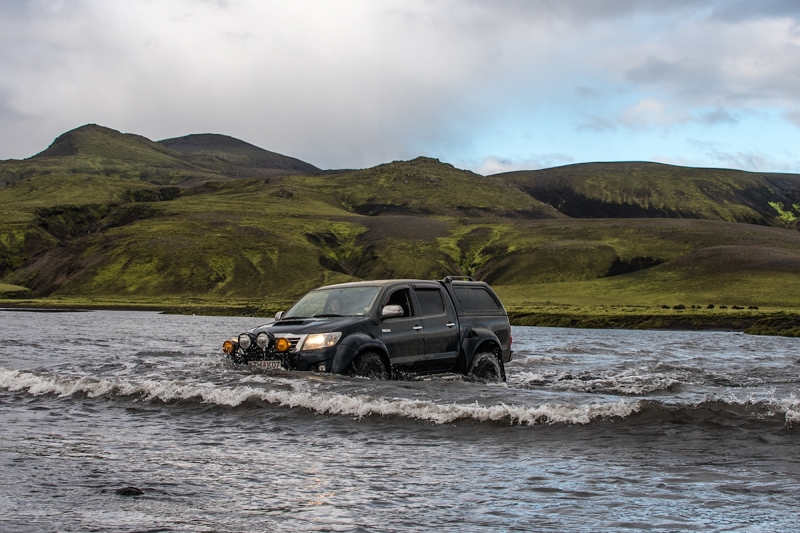 Crossing a river in Iceland is a serious business and you need a well equipped 4WD