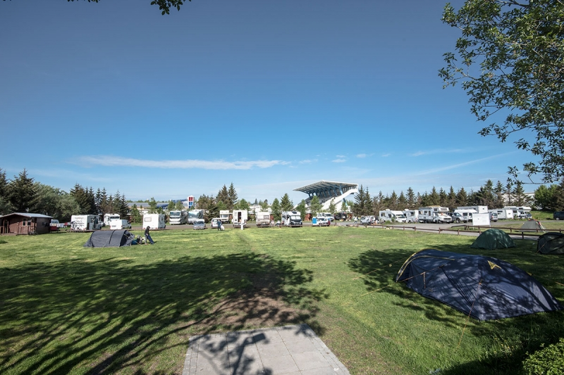 The camping ground for Reykjavík visitors is in the district of Laugardalur