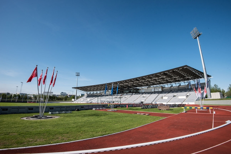 In Laugardalur are the largest football field in Iceland and our most important track and field sports facility