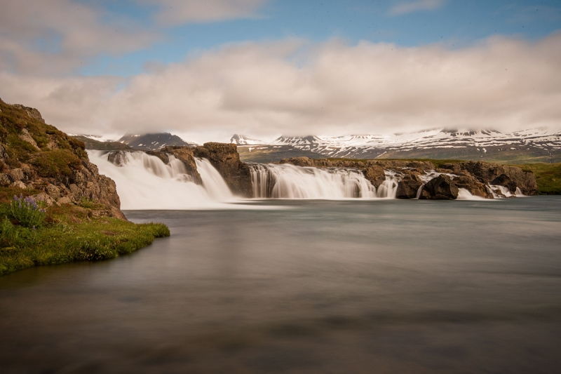 Beljandi is a waterfall in the river Breiðdalsá located in the valley Breiðdalur near the farm Brekkuborg.