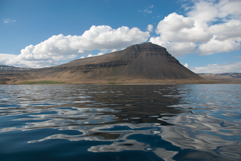 A view from the sea to Barðaströnd