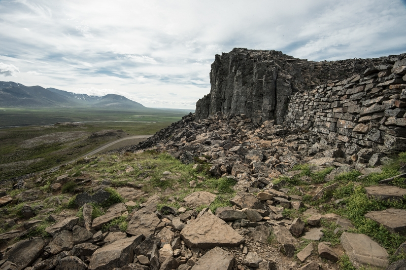 Borgarvirki is located only 10 kilometers from the Ring Road or Road 1 in Iceland on a turn to the north on Road 716.