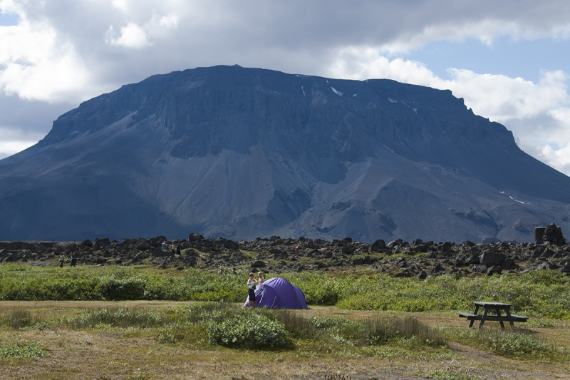 From the camping ground at the oasis Herðubreiðalindir
