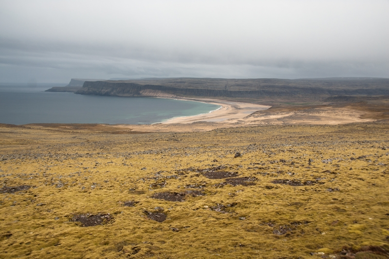 Rauðisandur (Red Beach) is a 10 kilometer stretch of a beach on the south coast of the Vestfirðir.