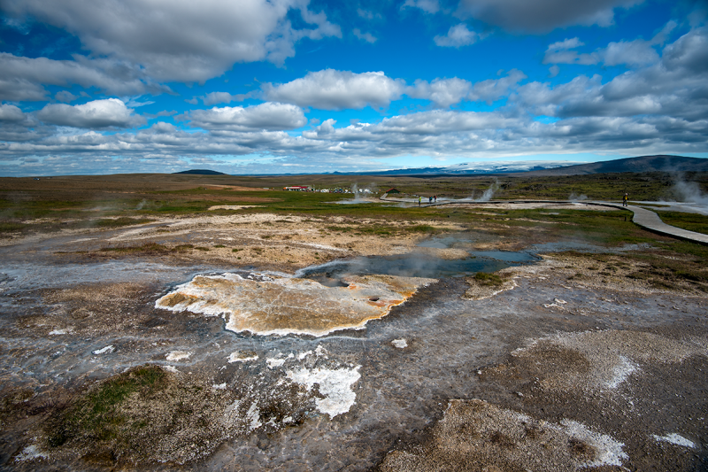 Hveravellir is also a beautiful area with a variety of hot springs that have interesting names and an endless spectrum of activity and colors.