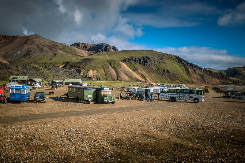Landmannalaugar is a kind of a base camp for hikers