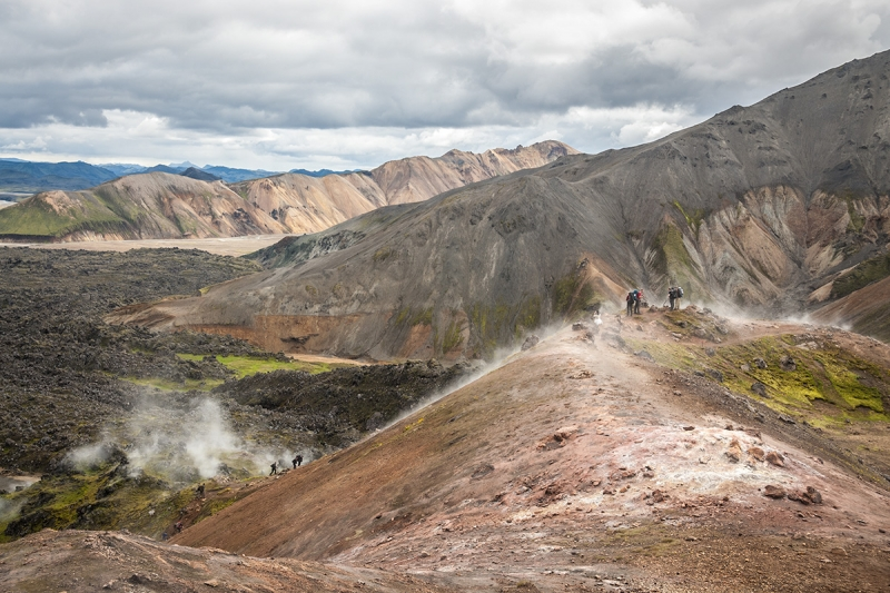 There are many hiking trails in Landmannalaugar