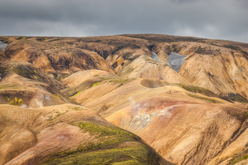 Landmannalaugar is famous for its rhyolite mountains
