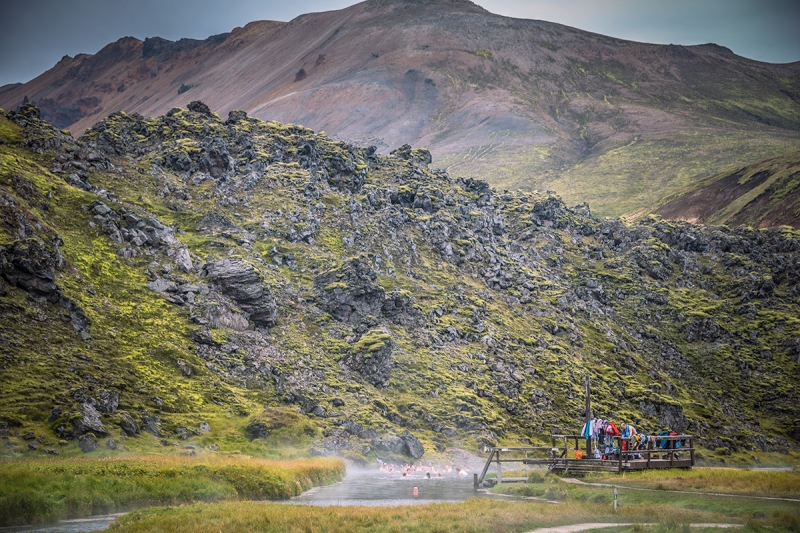 One of the fascinating attractions in Lanmannalaugar is the geothermal pool