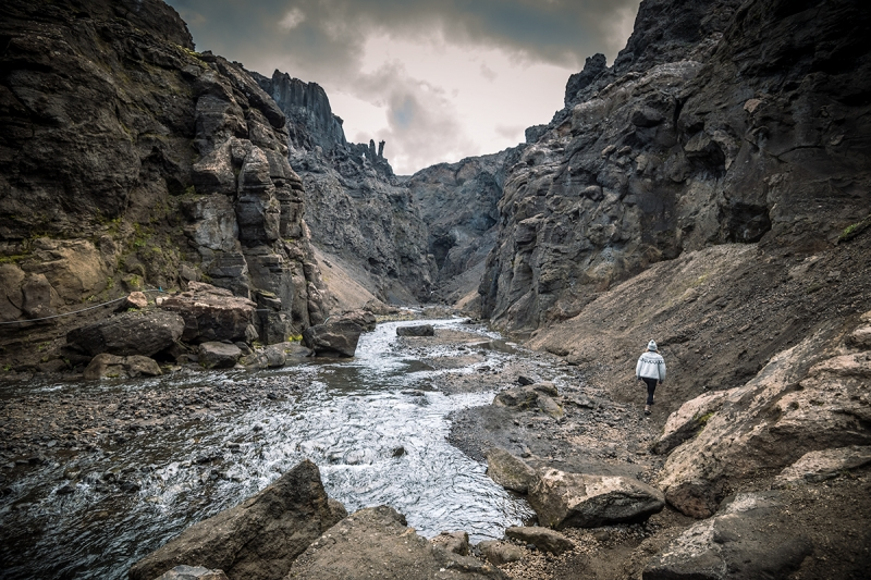 It is a dark and narrow place loaded with geological formations that can only remind you of another world with dragons and fairy tails.
