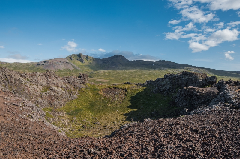 Saxhóll crater is only about 100 meters high