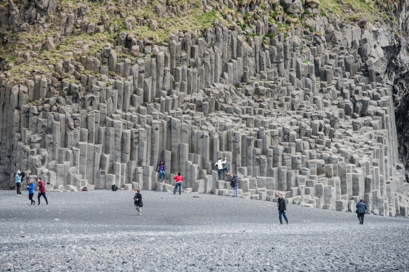 While viewing the stacks you also have one of the most spectacular basalt column formations in Iceland right in front of you