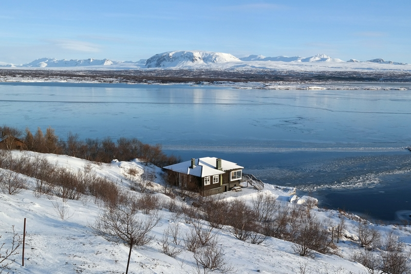 During winter Þingvellir is a spectacular place to visit