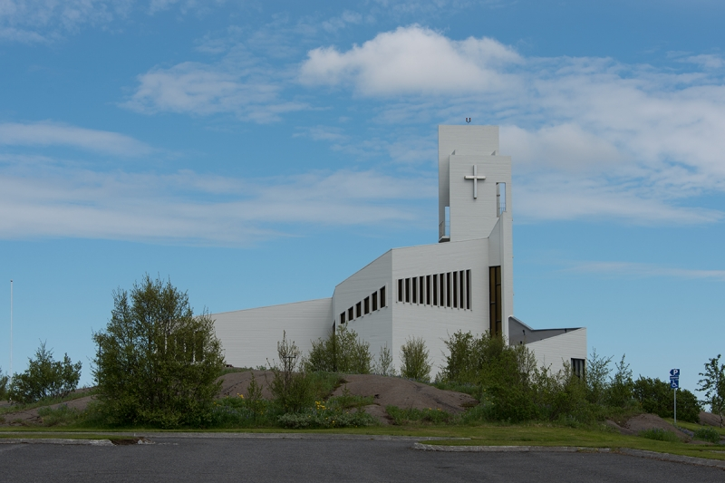 The church is a landmark in Egilsstaðir