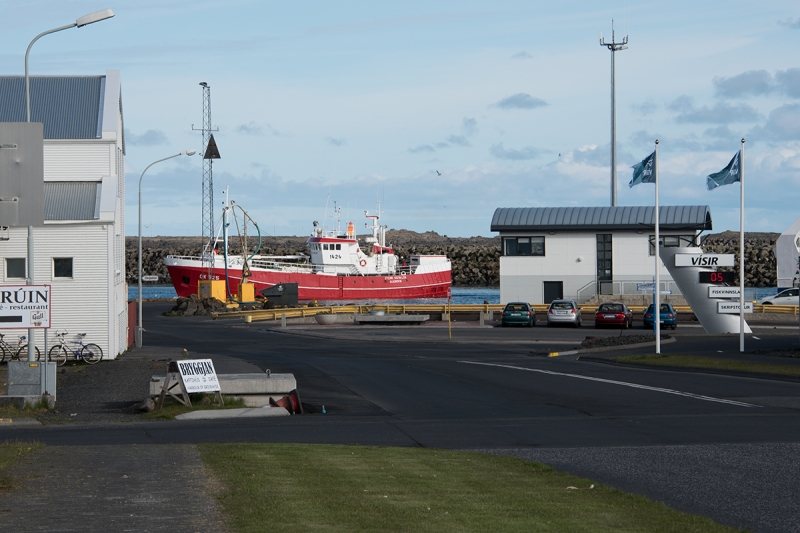The harbor is the center of life in Grindavík near the Blue Lagoon