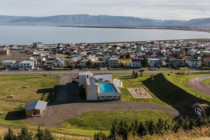 Sauðárkrókkur is a small town in the Northern Region in Iceland