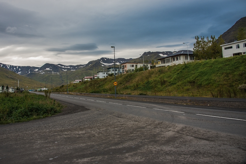 Siglufjörður is a small town in the Northern Region in Iceland