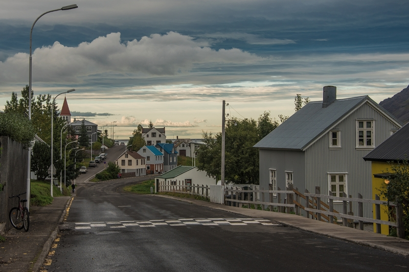 One of the old streets in Siglufjörður