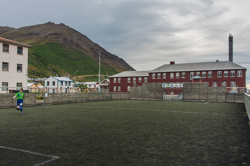 The old school in Siglufjörður in Iceland northern region