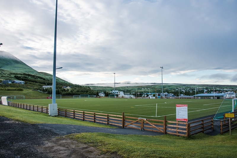 Húsavík has good sports facilities for outdoor sports like soccer and track and field