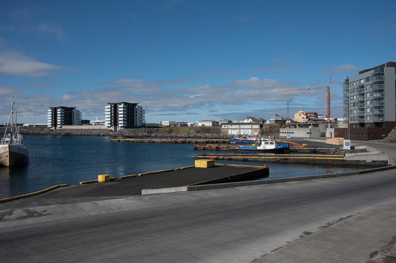 The harbor in Reykjanesbær is not very active and fishing is not the main industry