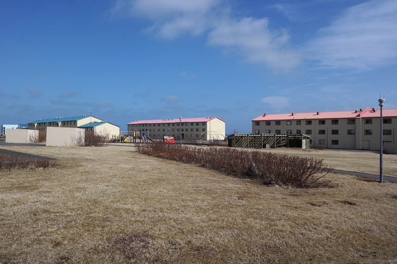 Buildings from the time of the American military base in Keflavík