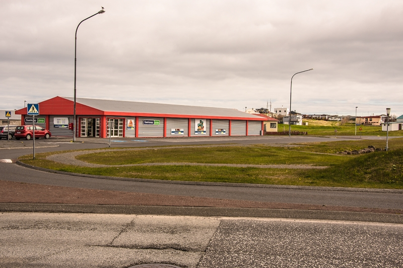 The shop at Sandgerði town in Reykjanes Peninsula Iceland