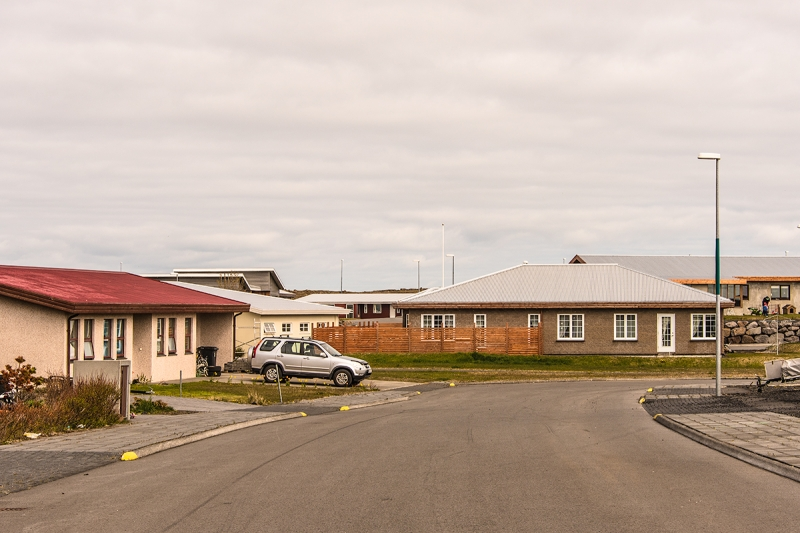 New houses in Sandgerði town in the Reykjanes Peninsula in Iceland