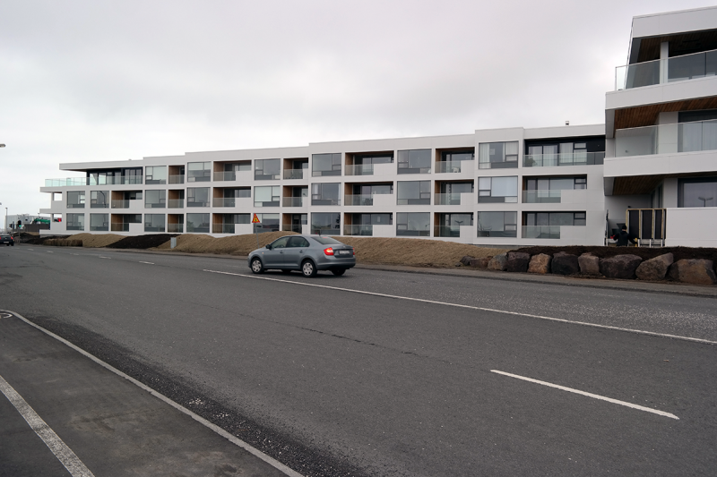 New luxurious apartment buildings at Seltjarnarnes