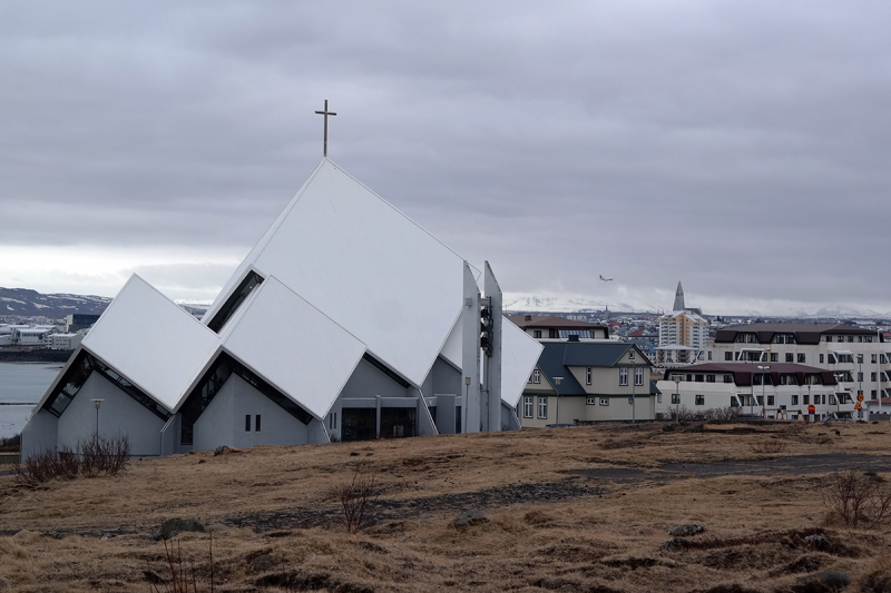 The church in Seltjarnarnes is both beautiful and unique in architecture