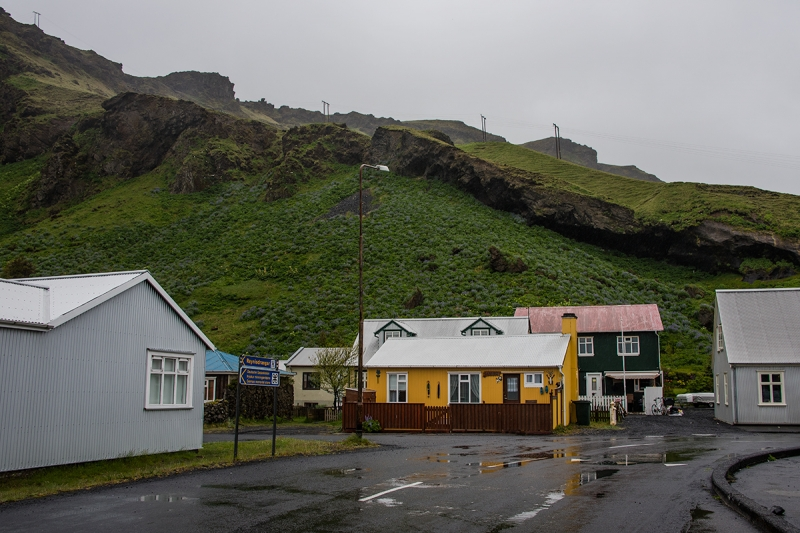 The town of Vík is placed in beautiful surroundings