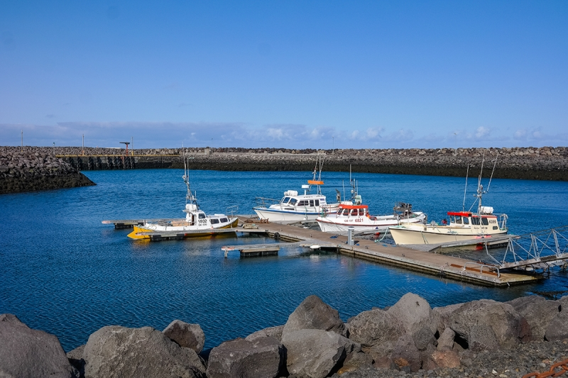 A small harbor is still in Vogar is a small village in the Reykjanes peninsula in Iceland