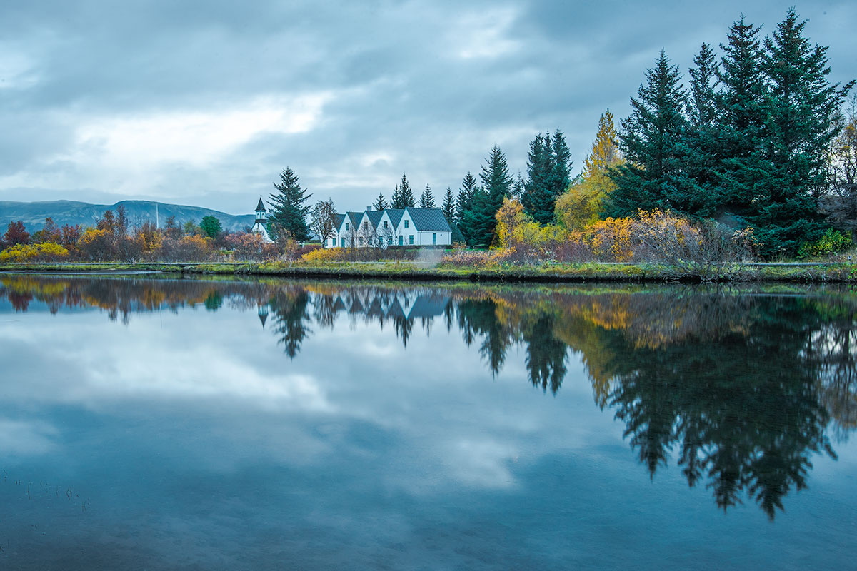 Þingvellir National Park in autumn