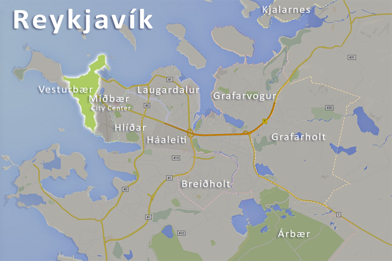 Vesturb r is a district in Reykjav k the capital of Iceland – Tourist Map Of Reykjavik